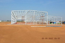 metal storage building exported to Angola