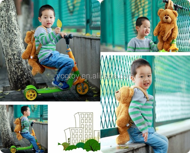 New design birthday gift cartoon cute animal kindergarten kids boys custom plush fun teddy bear school bags