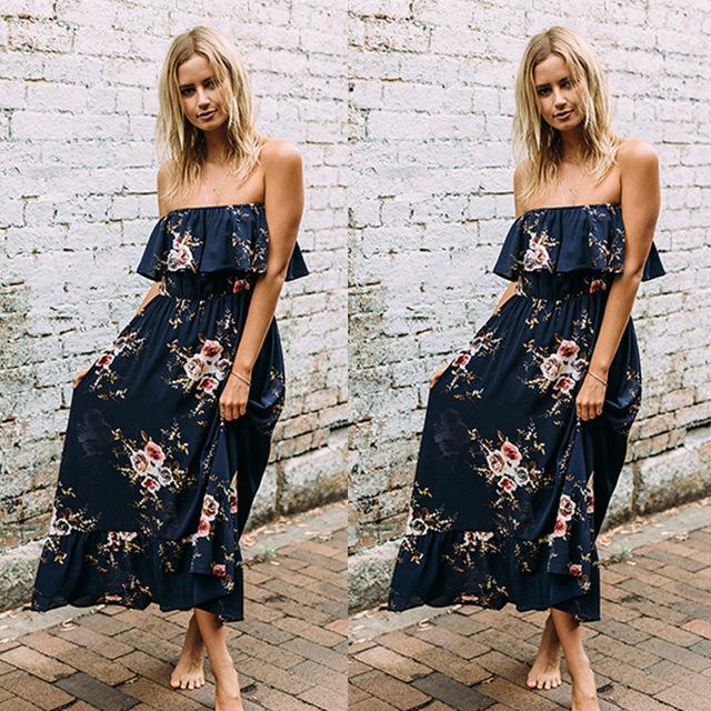 2017 Walson 2017 new summer women dress and floral lace stitching Chiffon Dress irregular
