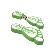 Creative USB pen drive feet shape for electronic gift