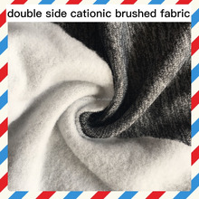 double side cationic fabric fleece fabric 185g/sm polyester slub brushed fabric