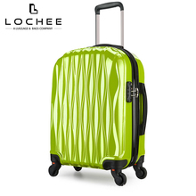 ABS PC 28 Hardside Double Zipper Luggage Suitcase Green