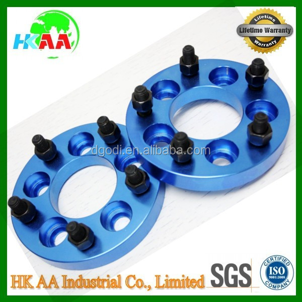 TS16949 standard factory blue anodized aluminum wheel adapter spacer for auto car rim