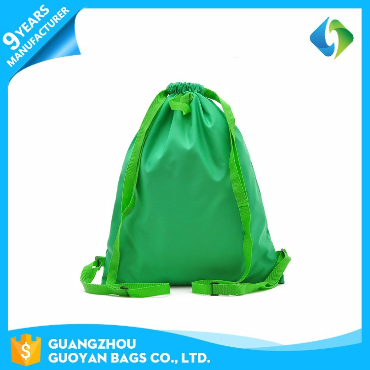 2017 New arrival oem waterproof drawstring tote nylon shopping bag