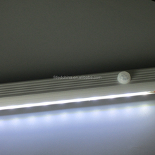 Clothes wardrobe led hanging rod with PIR motion sensor switch