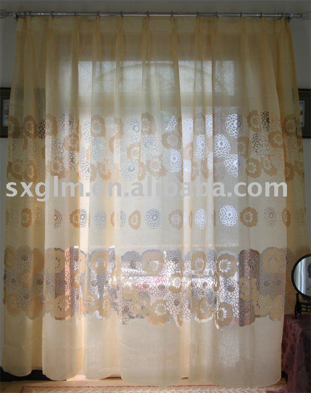 rod pocket hot sale design jacquard curtains