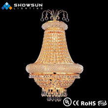 Professional french banquet attractive LED wall lamp crystal lighting