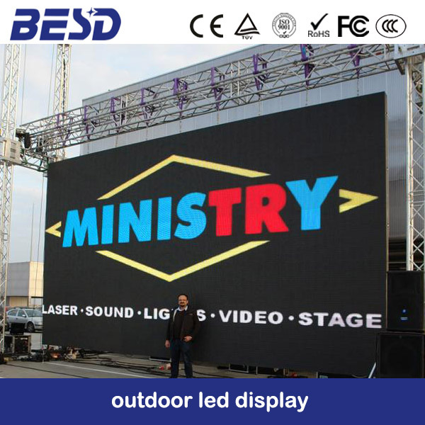 Constant Current ultrathin video display function adverting led P5 / P6 / P8 / P10 Rental LED Screen Outdoor (CE & RoHS FCC)