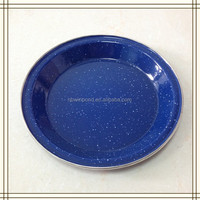 Enamel outdoor product for camping carbon steel non-stick enamel plate