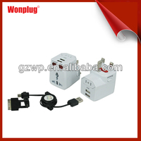 2014 hottest USB cable and charger kit cube phone accessories