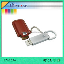 Leather, low price marketing gift 8gb 64gb.100mb usb flash drive