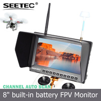 Built-in integrated lipo battery 8 inch fpv hd lcd monitor 5.8ghz AV receivers 32 CH gravity rc helicopter parts