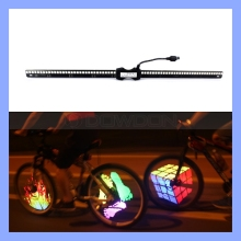 Programmable DIY Cycling 48 LED Colorful Bicycle Bike Wheel Spoke Light