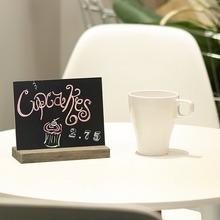 5 X 6 Inch Mini Tabletop Chalkboard Signs with Vintage Style Wood Base Stands