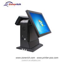 Touch POS terminal with customer display for restaurant cashier system ZQ-T9020