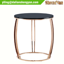 Contemporary metal side tables for living room