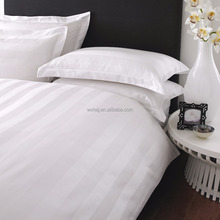 Polyester Cotton 1CM/2CM/3CM Sateen Striped White Bedding Fabric Wholesale