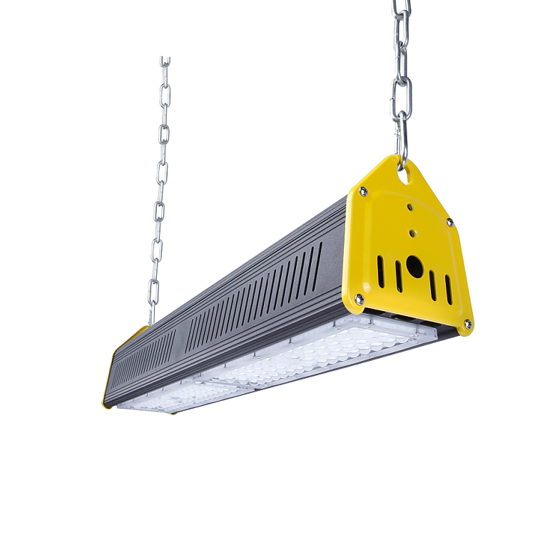 suspension wire for led warehouse workshop brackets angle adjustable corner hanging 100W LED Linear HighBay Light