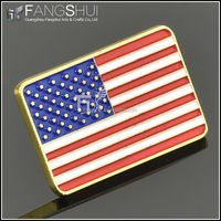 Soft enamel gold plated USA flag lapel pin
