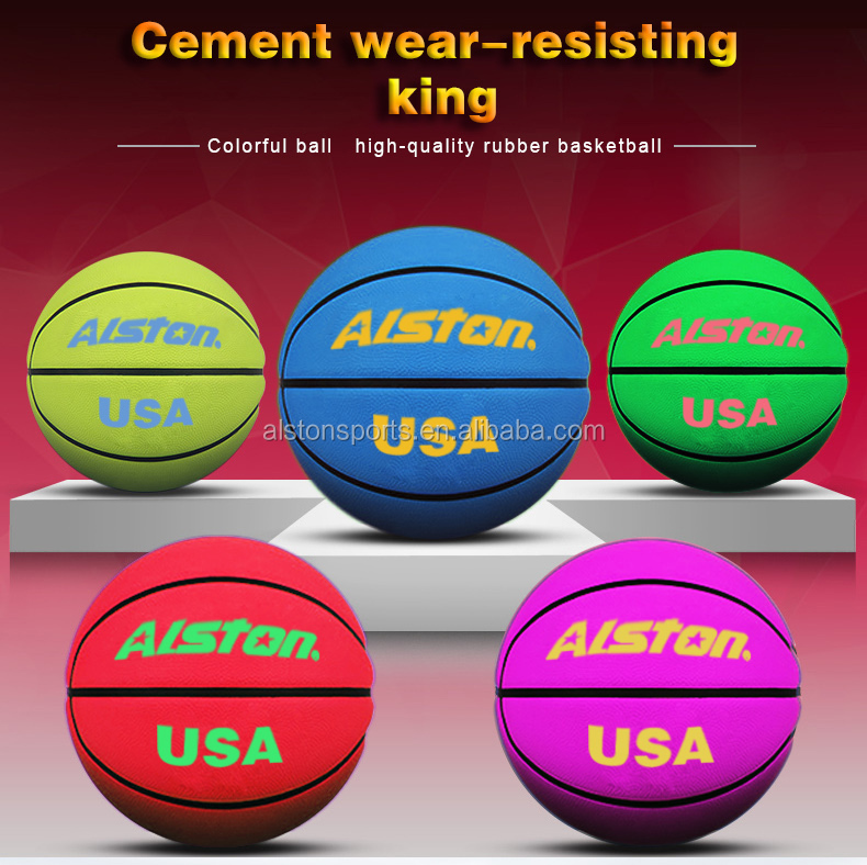 Alston Brand Size 7 Rubber Basketball Cheap Price Baksetball