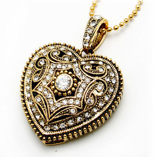 Fashion Jewelry Crystal Heart Chian Necklace model 2.0 usb flash drive 4GB 8GB 16GB 32GB 64GB memory stick pendrive