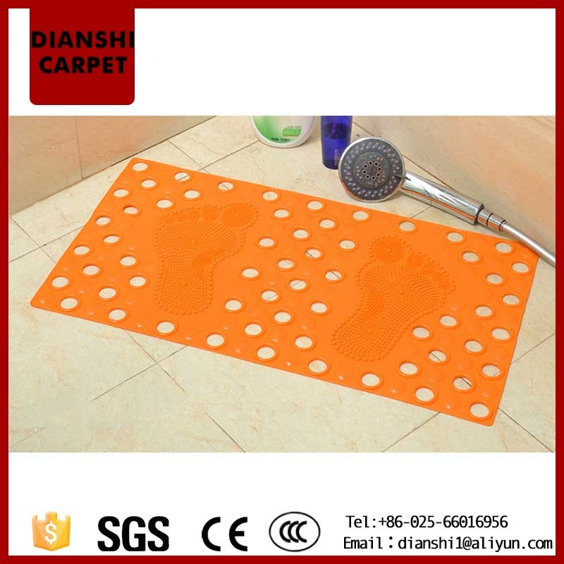 Machine Weaving Eco-Friendly Colorful Plastic Carpet Foot Mat