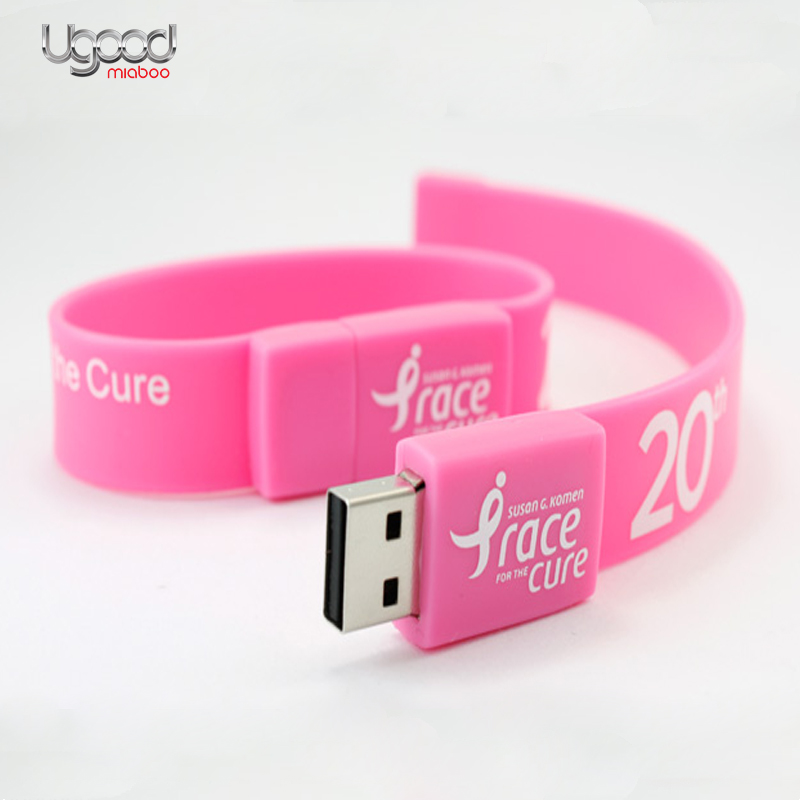 bulk 8gb usb flash drive, Colorful USB flash drive waterproof bracelet, custom usb flash bracelet silicone