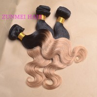 Zunmei popular products peruvian body wave 1b/27 cheap ombre hair extension