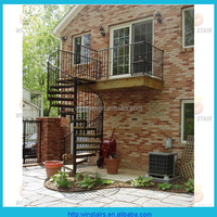 space saving spiral stair/outdoor circular metal stairs/round staircases