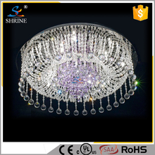 Luxury Fashion Purple Crystal Suspended Ceiling Lighting