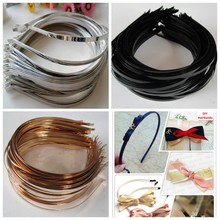 New Wholesale 5mm Blank Plain Metal Hairband Decorative Metal <strong>Headband</strong> for Girls Kids Hair Band DIY Craft Hair Hoop 100pcs/lot
