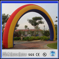 Inflatable rainbow pvc garden wedding arch