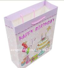 happy birthday colourful gift paper bag