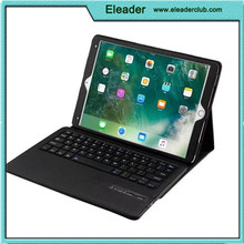 Premium PU Leather Folio Stand Cover with Removable Wireless Bluetooth Keyboard for ipad pro 10.5