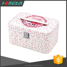 Newest rolling beauty jewelry travel makeup trolley case