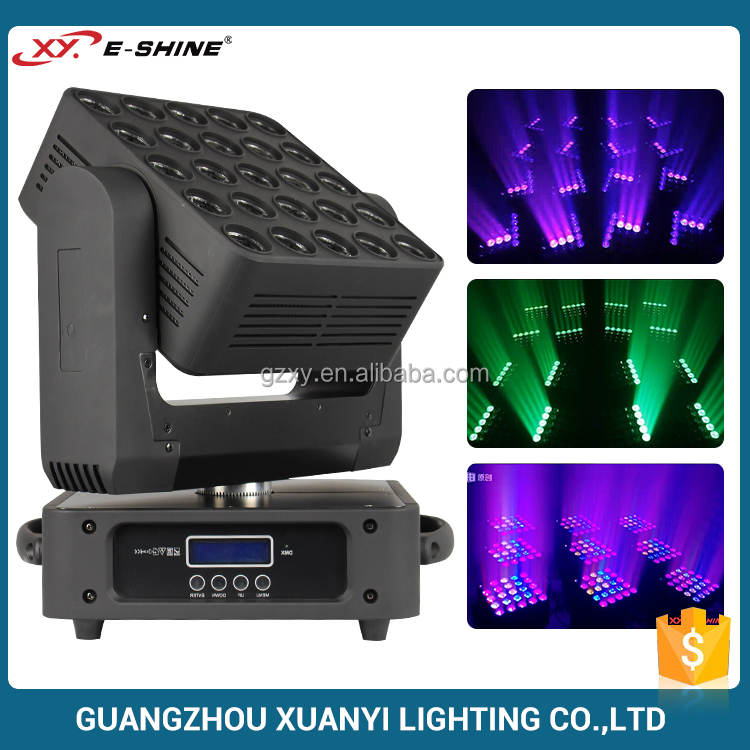 Fast unlimited Pan and Tilt movement 25 led matrix moving light for night club