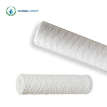 Large Flow 30 Inch Amanda 1 Micron Wound String Sediment Water Filter Cartridges