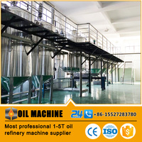 Small scale cheap high productivity cotton seed oil refinery machinery,colza oil refinery machine
