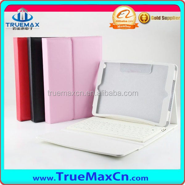 Leather Case With Silicon Bluetooth keyboard For iPad Air, Air 2