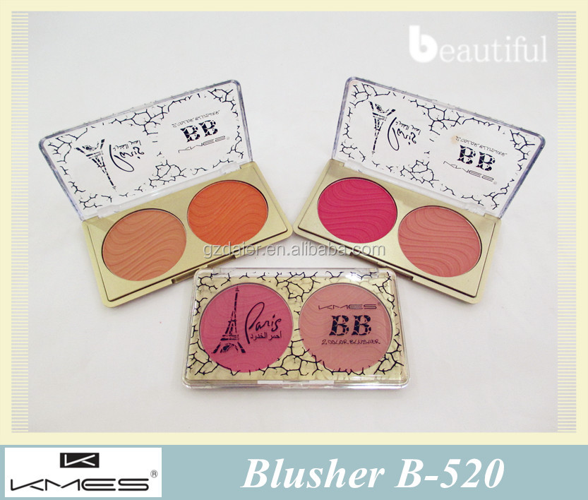 Music beauty makeup blush kit 2 colors blusher with brush for face blush palette B-520
