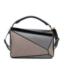 Versse hand-lacquered edges contrast handbag colour combination Puzzle function bag