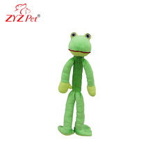 Squeaky green frog dog toy plush pet dog squeaky toy for dog chew
