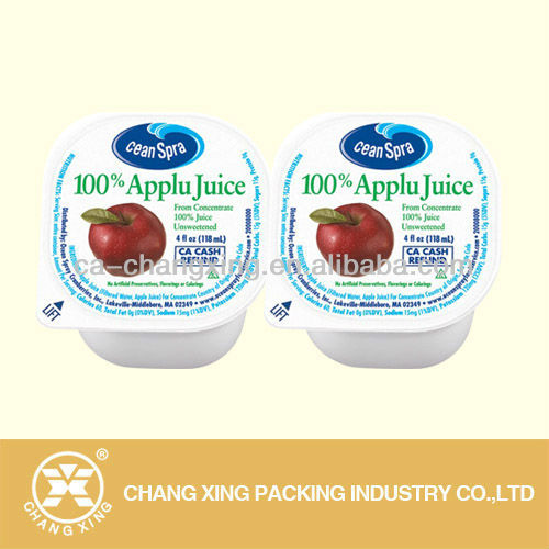 plastic cup sealing film for pp/ps/pet yoghurt cups & jelly cups