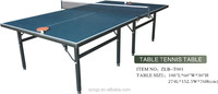 Indoor foldable table tennis table/high density board ping pong table made in china
