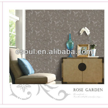 Hot selling American flower wallpaper with bedroom PVC wallpaper
