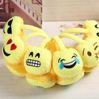 6 Pieces Lovely Emoji Warm Plush Earmuffs Ear Warmer
