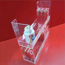 high quality multi-layer clear acrylic cigarettes display rack for store selling