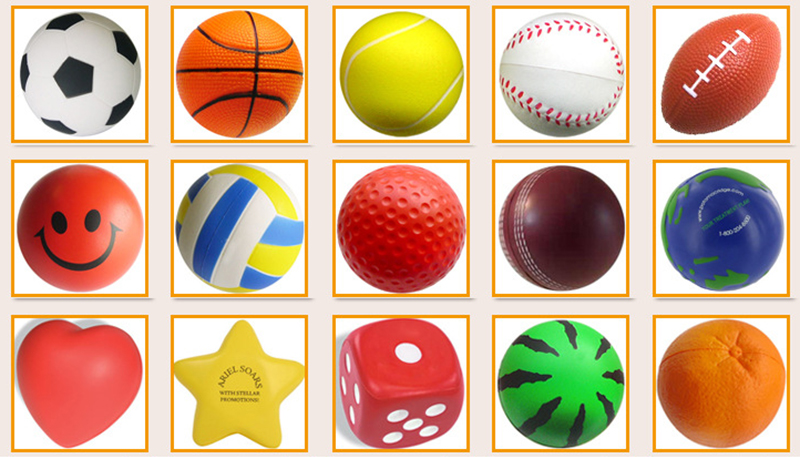 Imprinted Cheap Novelty Round PU Foam Stress Ball Relief Anti Stress Ball Custom Shape with Logo Promotional Products