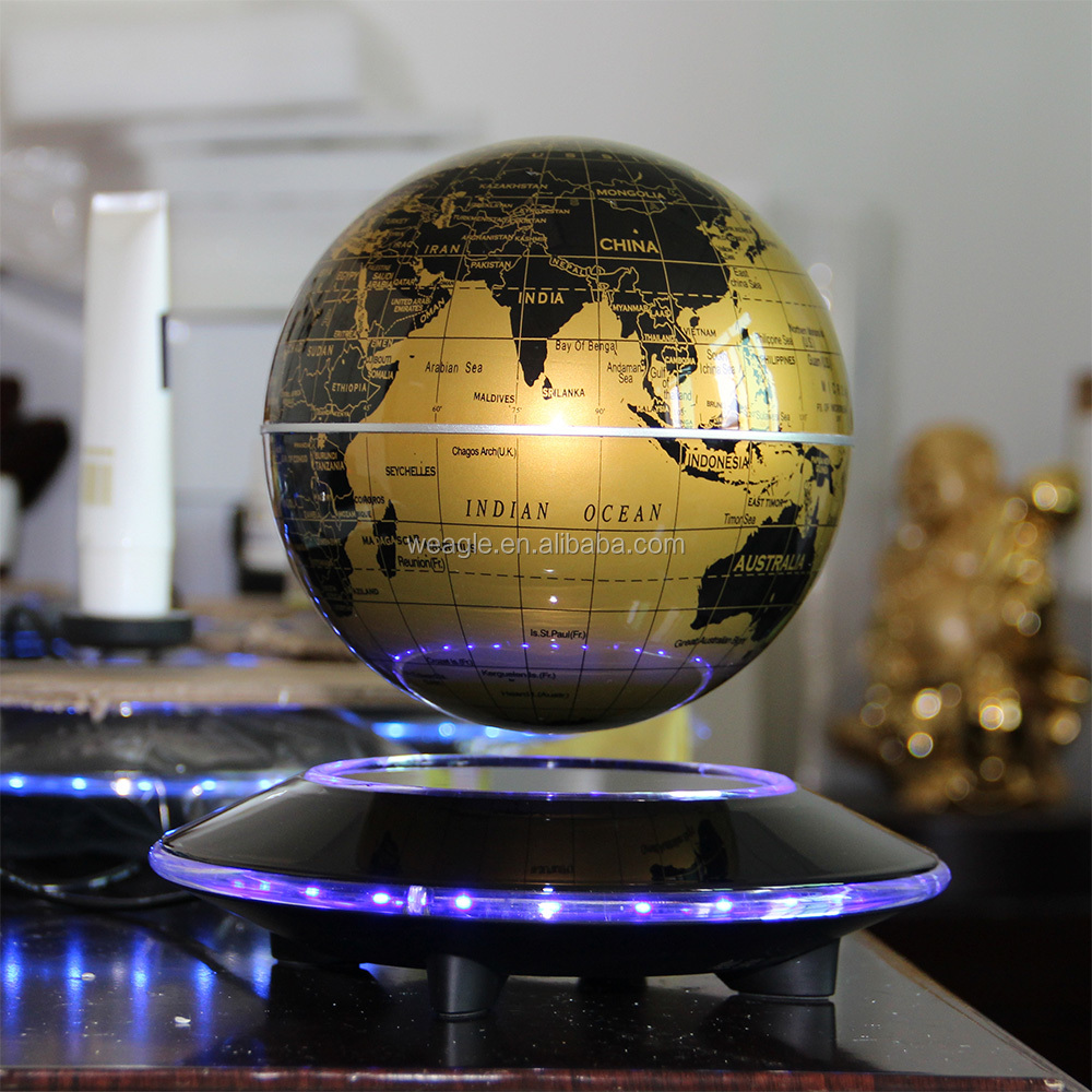Popular UFO base magnetic levitation globe charming design focus gift wrap