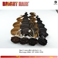 Indian human hair clip top grade different wave types hair extension